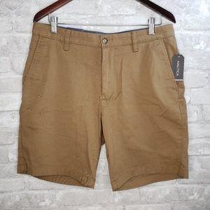 NWT Nautica Men's Brown Stretch Deck Shorts - 32
